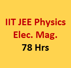 Electricity magnetism video lecture for iit jee