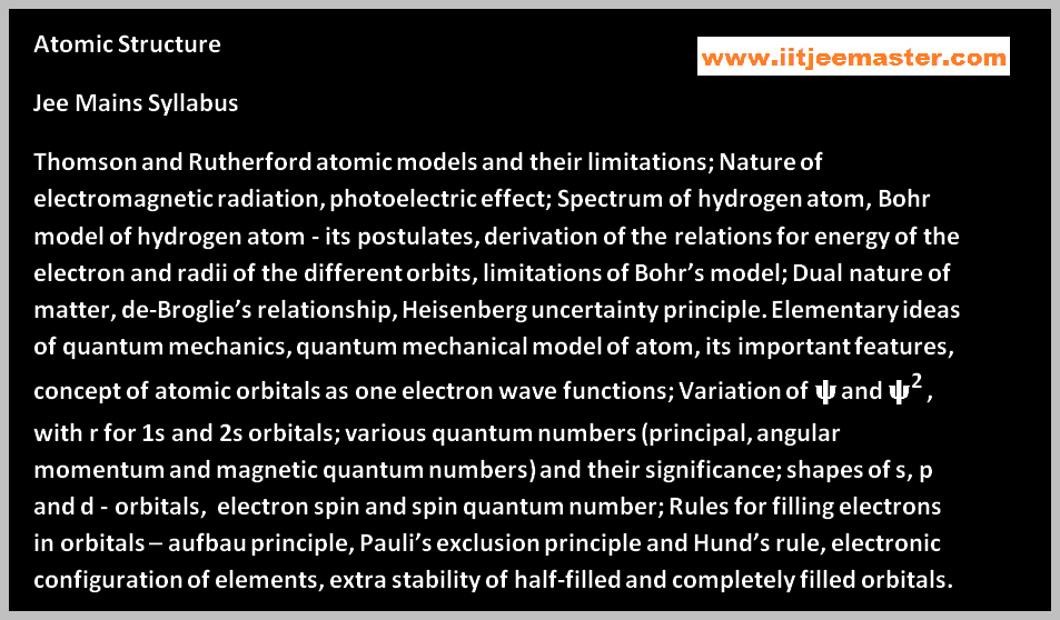 atomic structure video lectures for iit jee