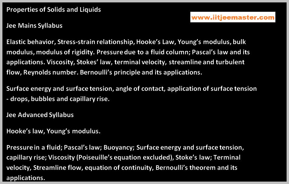 fluids mechanics for iit jee physics