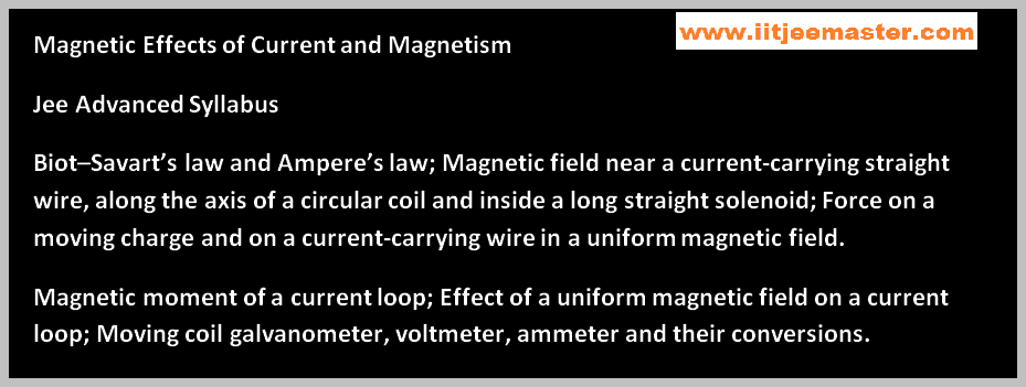 iit jee advance physics lectures magnetism