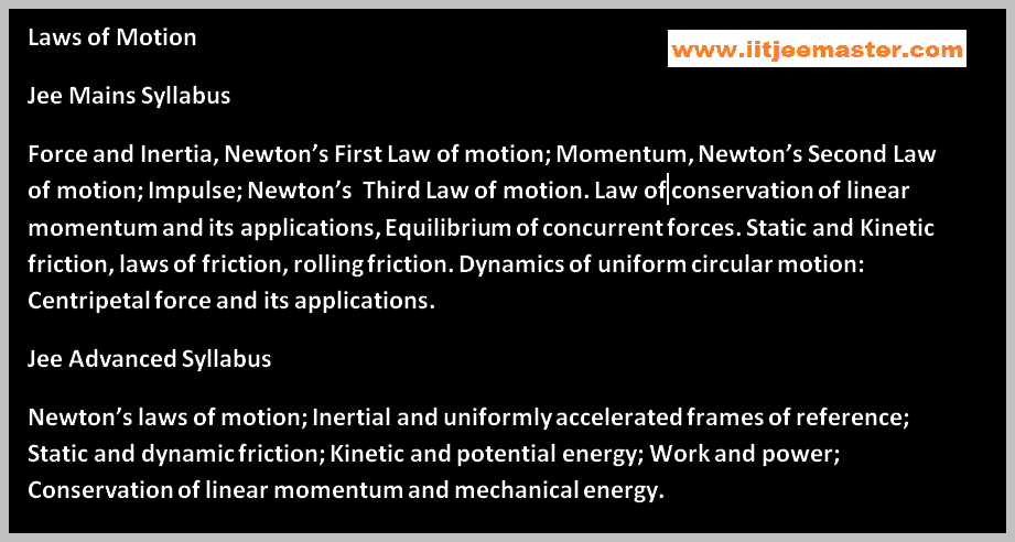 newtons law of iit jee physics video
