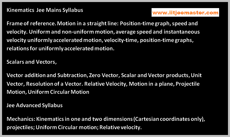 one d 2d motion iit jee video lectures