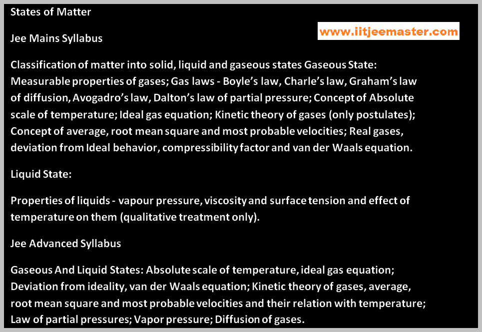 states of matter iit jee chemistry video lecture