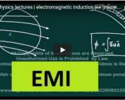 iit jee physics lectures on electrostatics emi