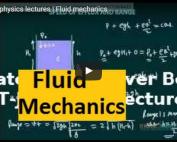 iit jee physics lectures on fliud mechanic