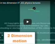 iit jee physics lectures on 2d motion