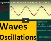 iit jee physics lectures on waves and oscillations