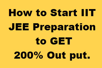 How to start iit jee preparation