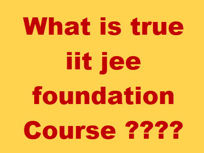 iit jee foundation course video lectures